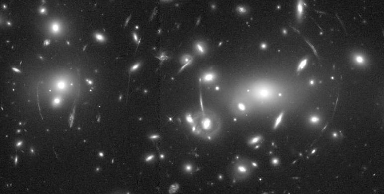 Image of the rich galaxy cluster abell 2218