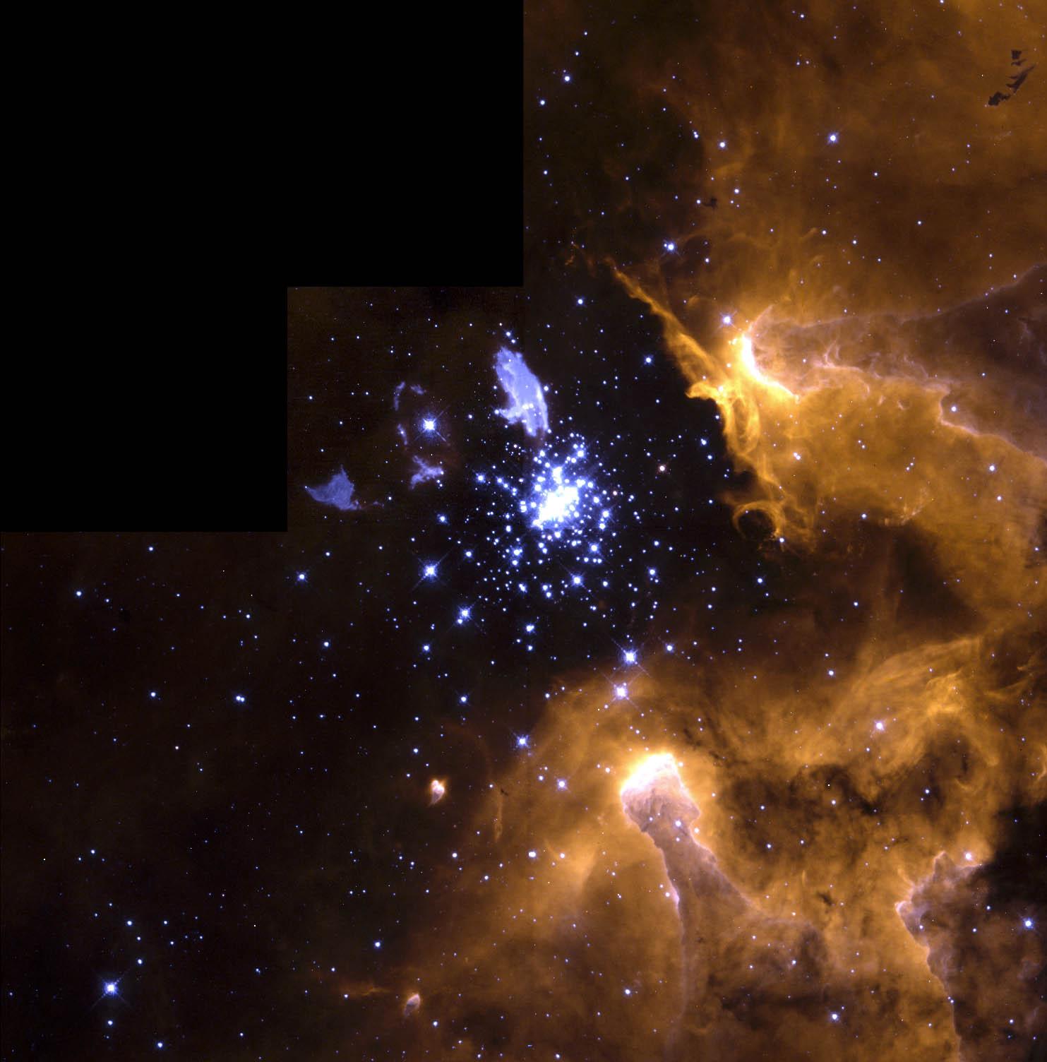 nasa nebula stars blue - photo #11