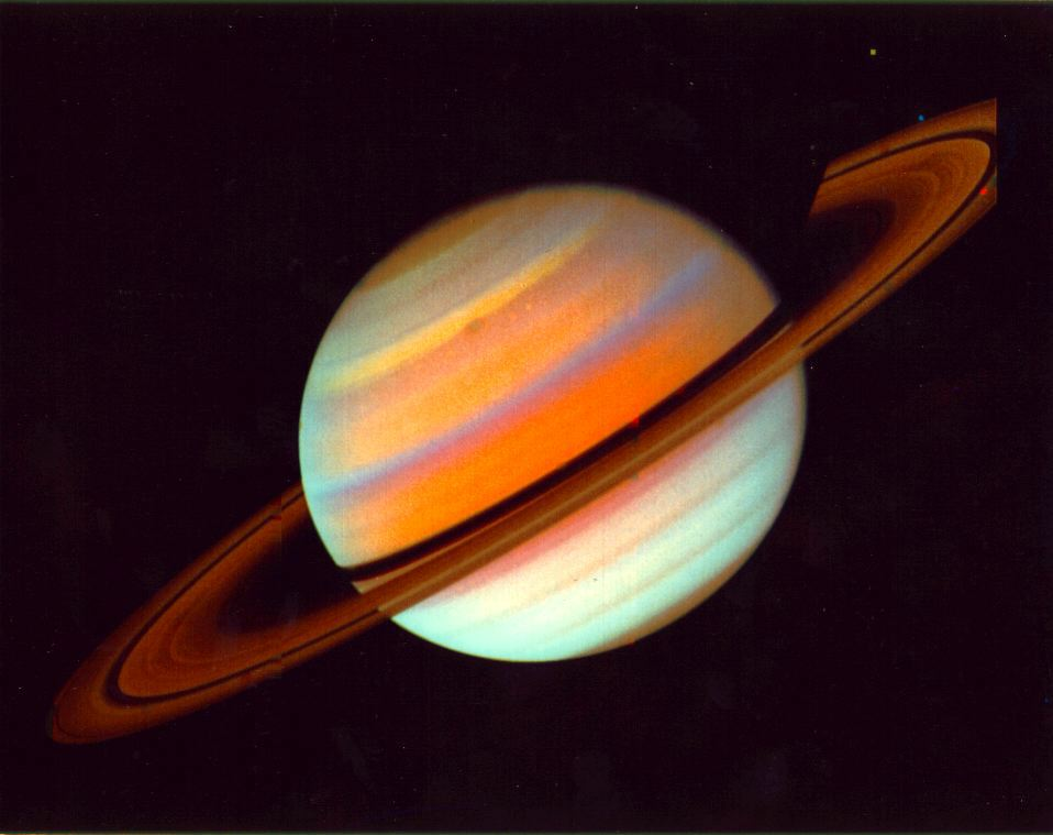 Saturn in false color