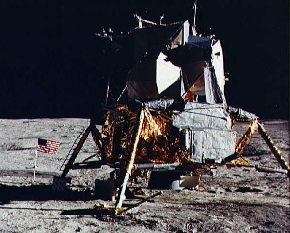 Image of the Apollo 14 Lunar Module /ALSEP spacecraft