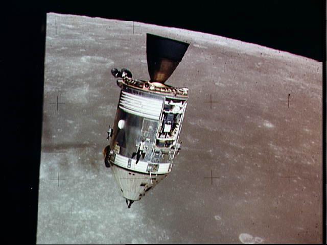 Apollo 15 Command/Service Module 'Endeavour' as viewed from the Lunar Excursion Module 'Falcon', NASA photo apollo_15_cm.jpg
