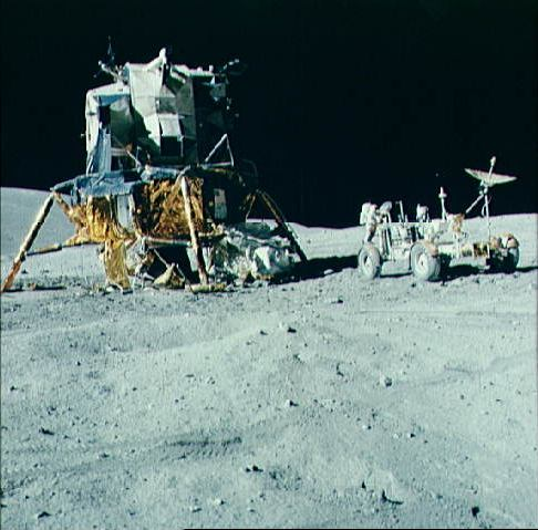 Apollo 16 Lunar Module, NASA photo taken by an astronaut on the Moon Source: NSSDCA Master Catalog apollo_16_lm.jpg