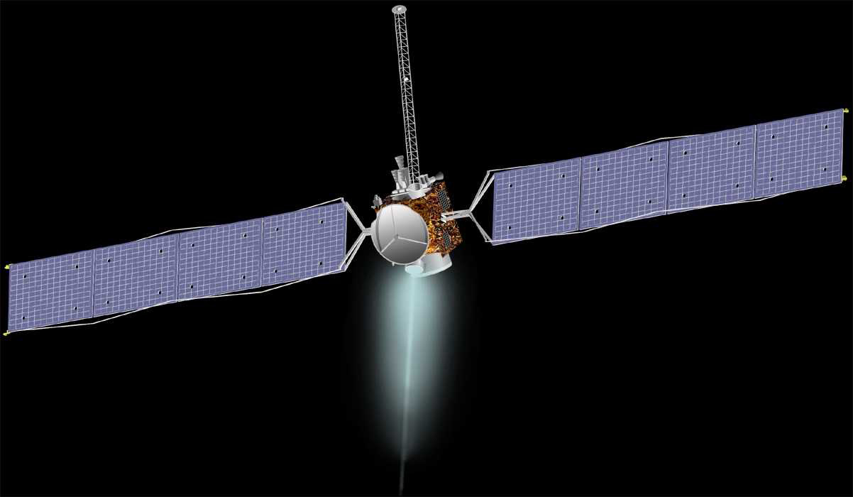 Nasa nssdca spacecraft details image of the dawn spacecraft sciox Image collections