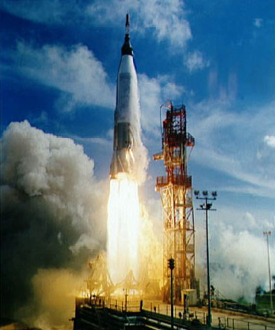 Mercury-Atlas 4 lifts off at the beginning of the first orbital flight in the Mercury programNASA photo mercury_atlas_4.jpg