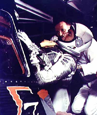 Wally Schirra climbing into the Mercury-Atlas 8 (Sigma 7) capsule, NASA photo mercury_atlas_8.jpg
