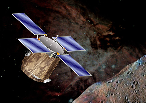 The Near Earth Asteroid Rendezvous - Shoemaker (NEAR Shoemaker) space probe, NASA illustration near_config.jpg