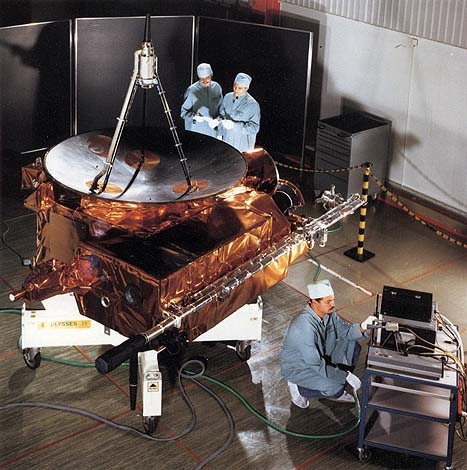 Ulysses solar polar probe during testing, photo courtesy of NASA ulysses_test.jpg