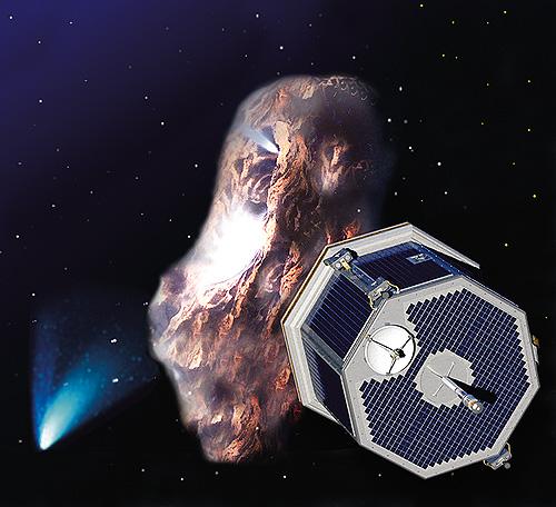 CONTOUR observing a comet nucleus, NASA artwork contour_comet.jpg