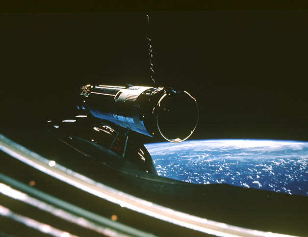 GATV 10 in orbit as viewed from Gemini 10, NASA photo gemini_atv_10.jpg