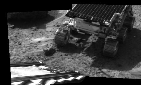 first image of the Sojourner rover on Mars