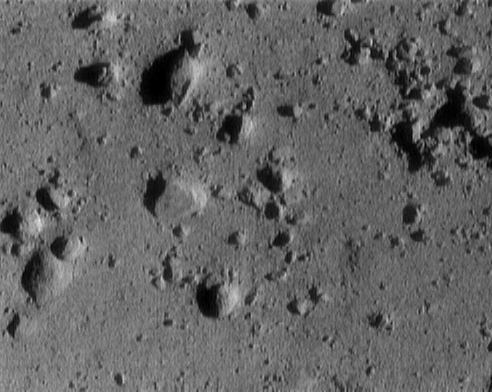 [NEAR descent image of asteroid Eros]