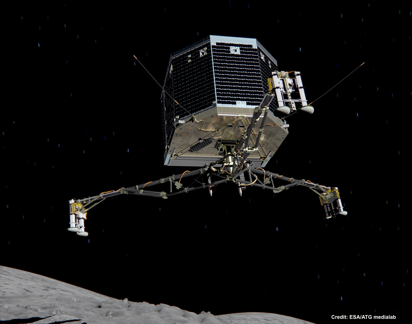 Nasa nssdca spacecraft details image of the philae spacecraft sciox Image collections