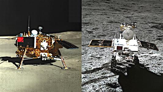 Chang'e 4 Lander and Rover