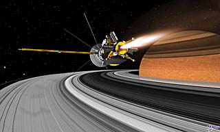 Artist's concept of Cassini near Saturn's rings, NASA illustration cassini_over_rings.jpg